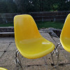Brilliant Yellow 1950s Herman Miller Eames DSS Stacking Side thumbnail