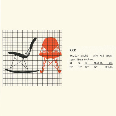 1952 Herman MIller Catalog RKR specification page