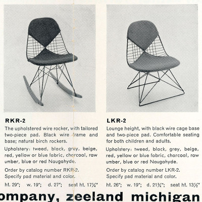 1955 Herman Miller brochure page for RKR
