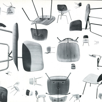 Famous Charles Eames Photograph Of DCM Side Chairs