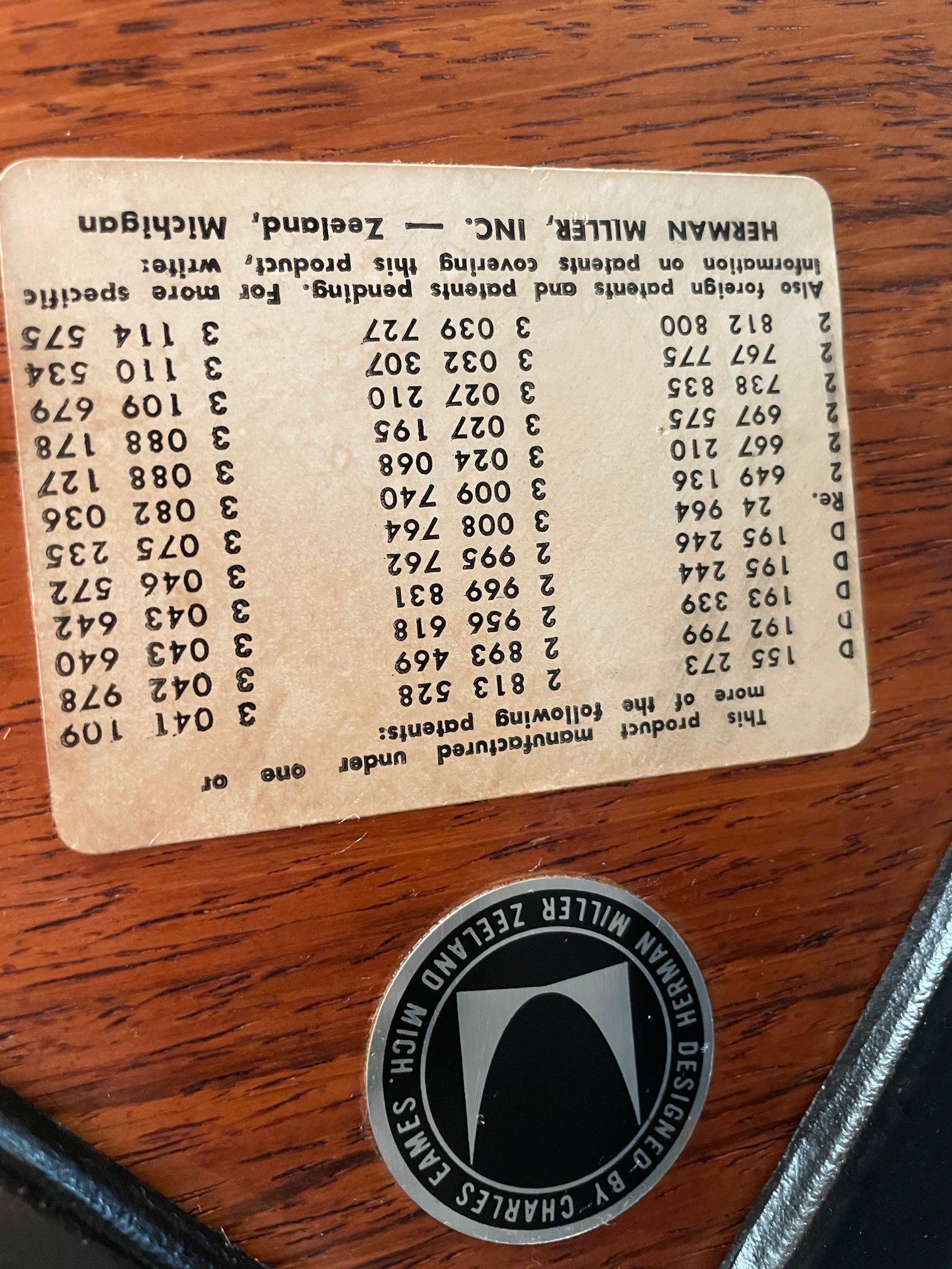 Brown 1964 Herman Miller Eames Lounge Chair & Ottoman