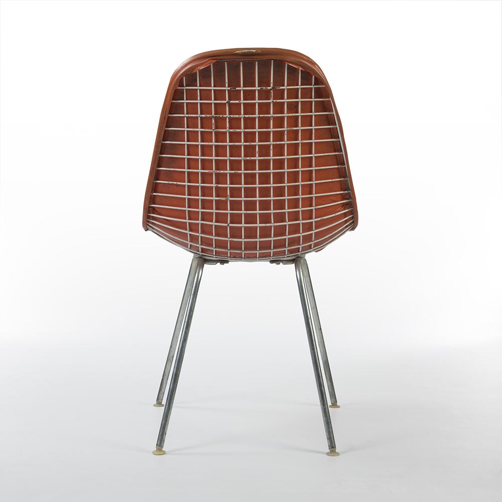 Black 1950s Herman Miller Eames DKX - X-Base Wire Side