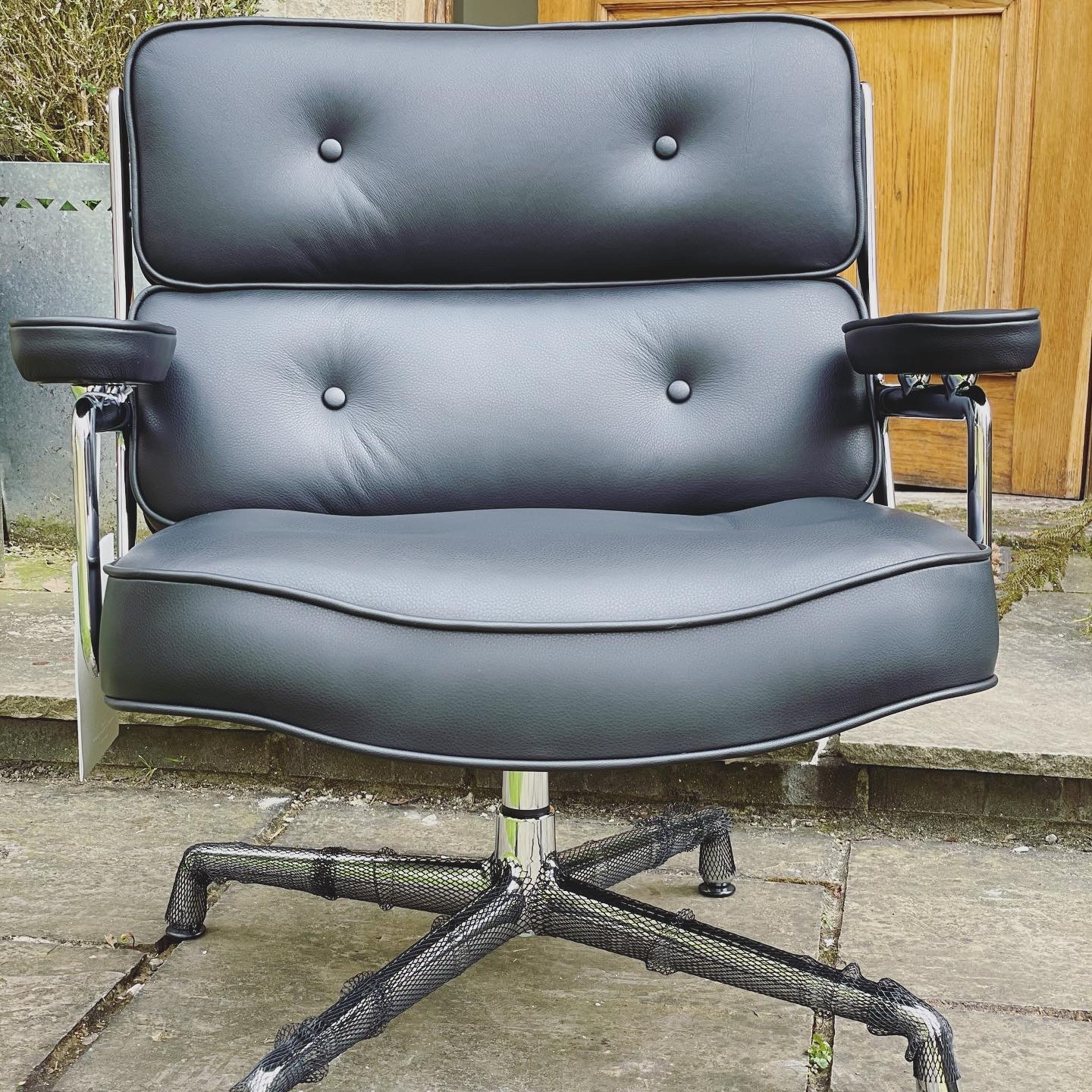 Black 2021 Vitra Eames Time Life Lounge Chair