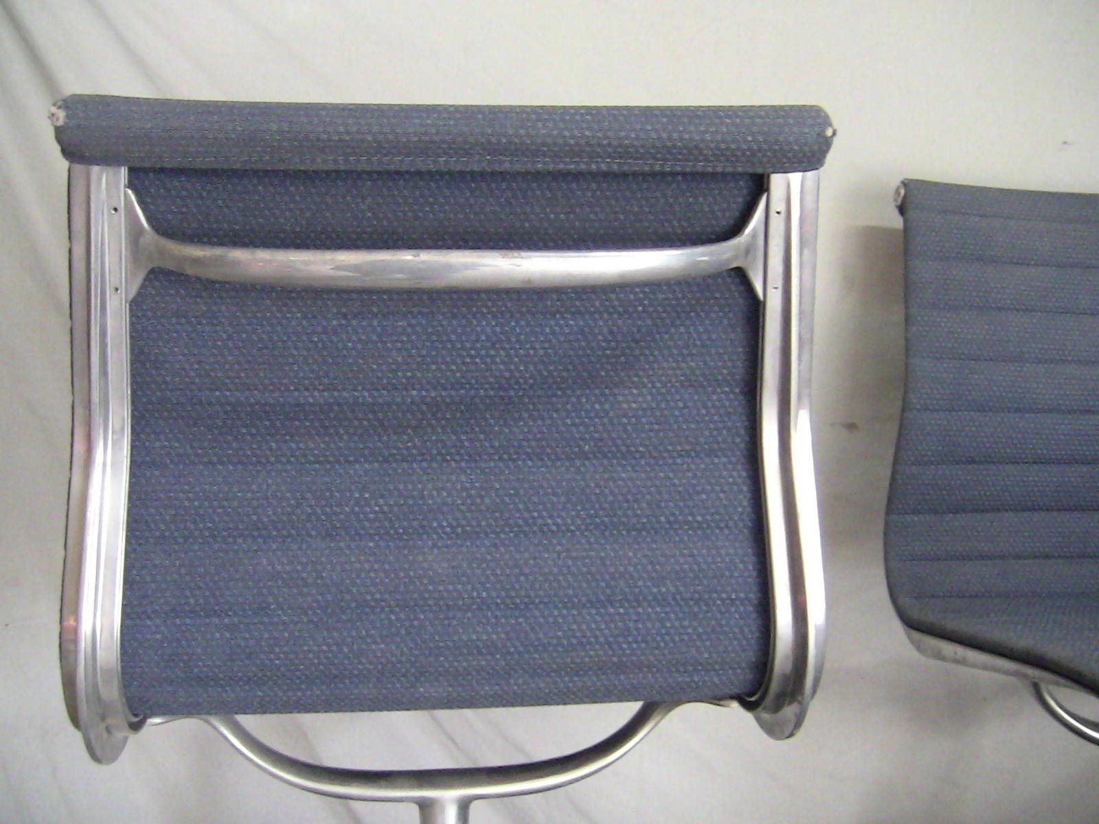 Blue 1970s Herman Miller Eames Alu Group Low Back Side Chair