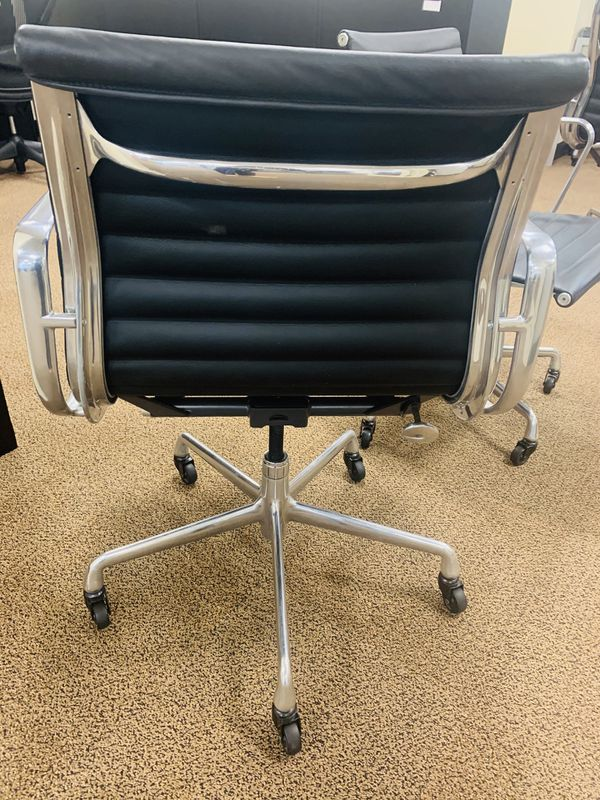 Black 2008 Herman Miller Eames Alu Group Low Back Side Chair
