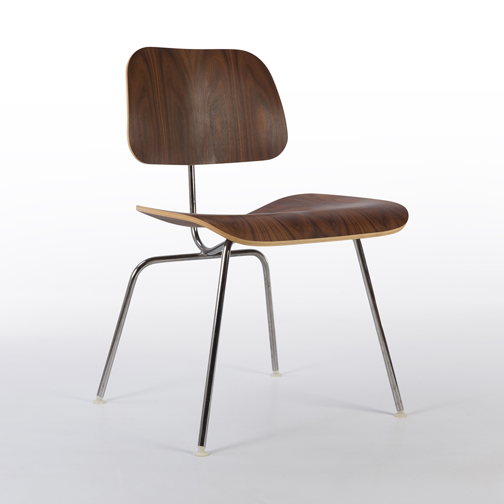 Wooden 2010s Herman Miller Eames DCM - Ply Dining Chair Metal