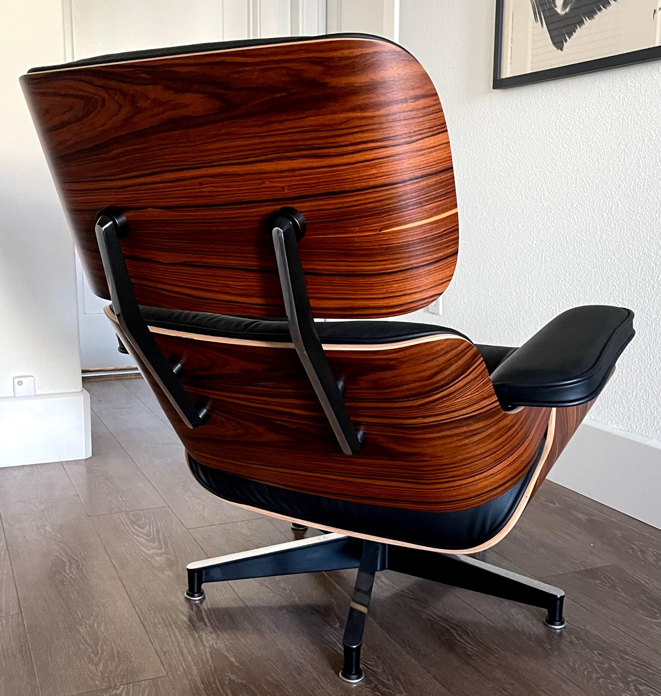 Black 2019 Herman Miller Eames Lounge Chair & Ottoman