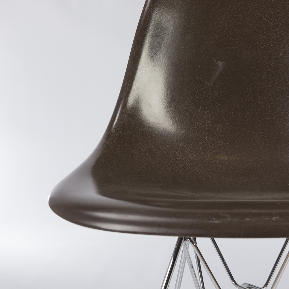 Seal Brown 2010s Herman Miller Eames DSR Eiffel Side