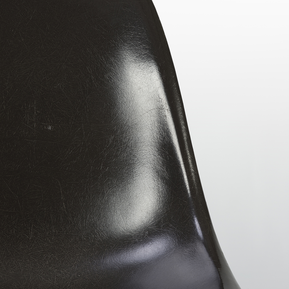 Dark Tone 1980s Herman Miller Eames DSW Dowel Side