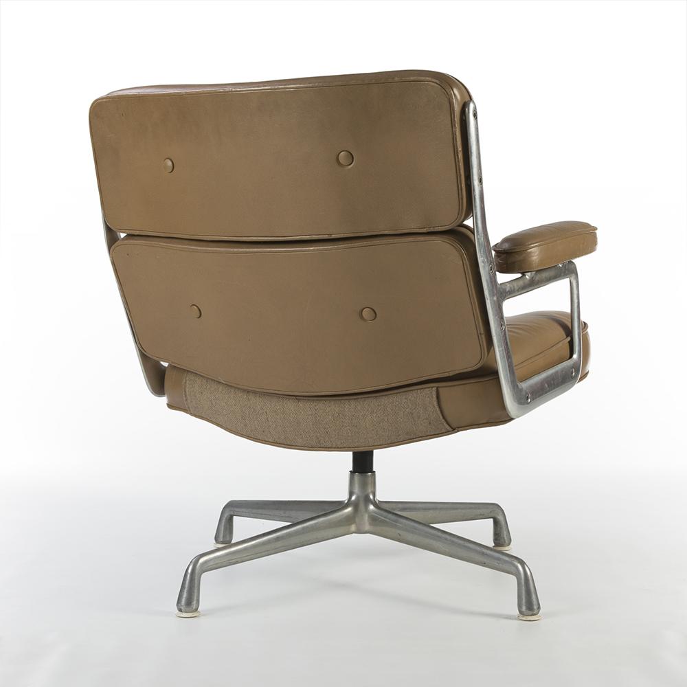 Tan Light Brown 1980s Herman Miller Eames Time Life Lounge Chair