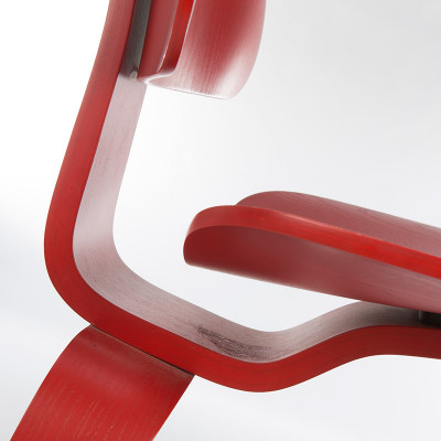 Close up form view of the Eames DCW