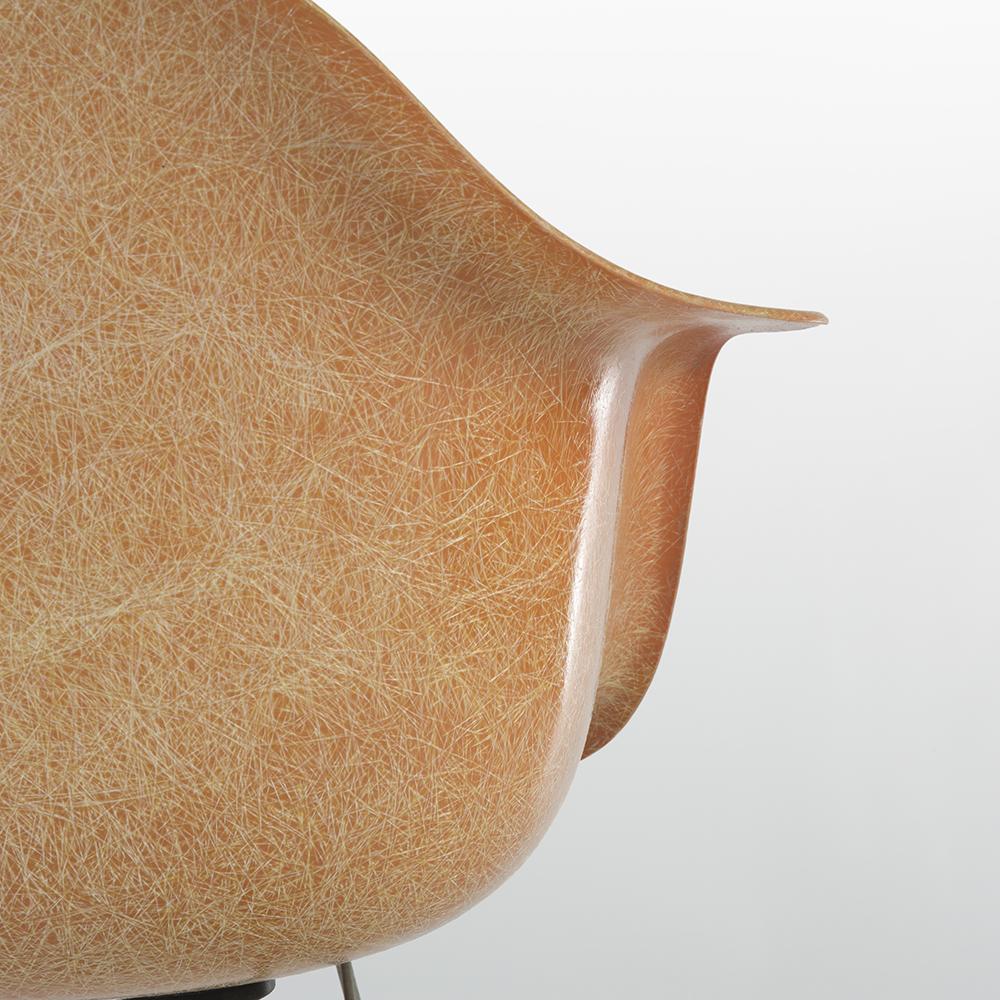 Salmon Orange 1950s Zenith Plastics Eames RAR Rocking Arm