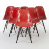 Red 1970s Herman Miller Eames DSW Dowel Side thumbnail
