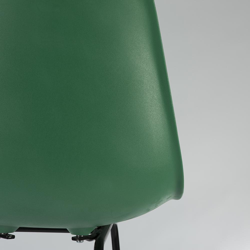 Green 2010s Herman Miller Eames DFHBX & DFHCX Stools
