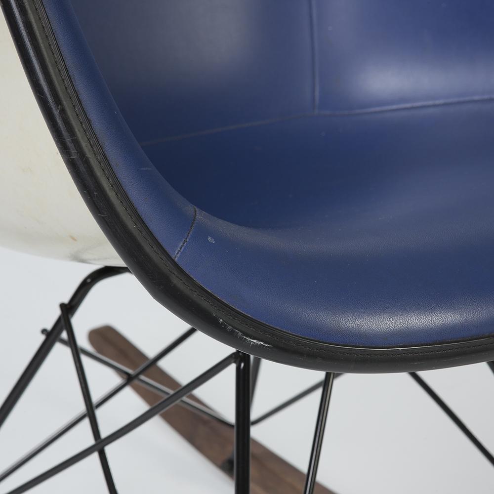 Blue 1960s Herman Miller Eames RAR Rocking Arm