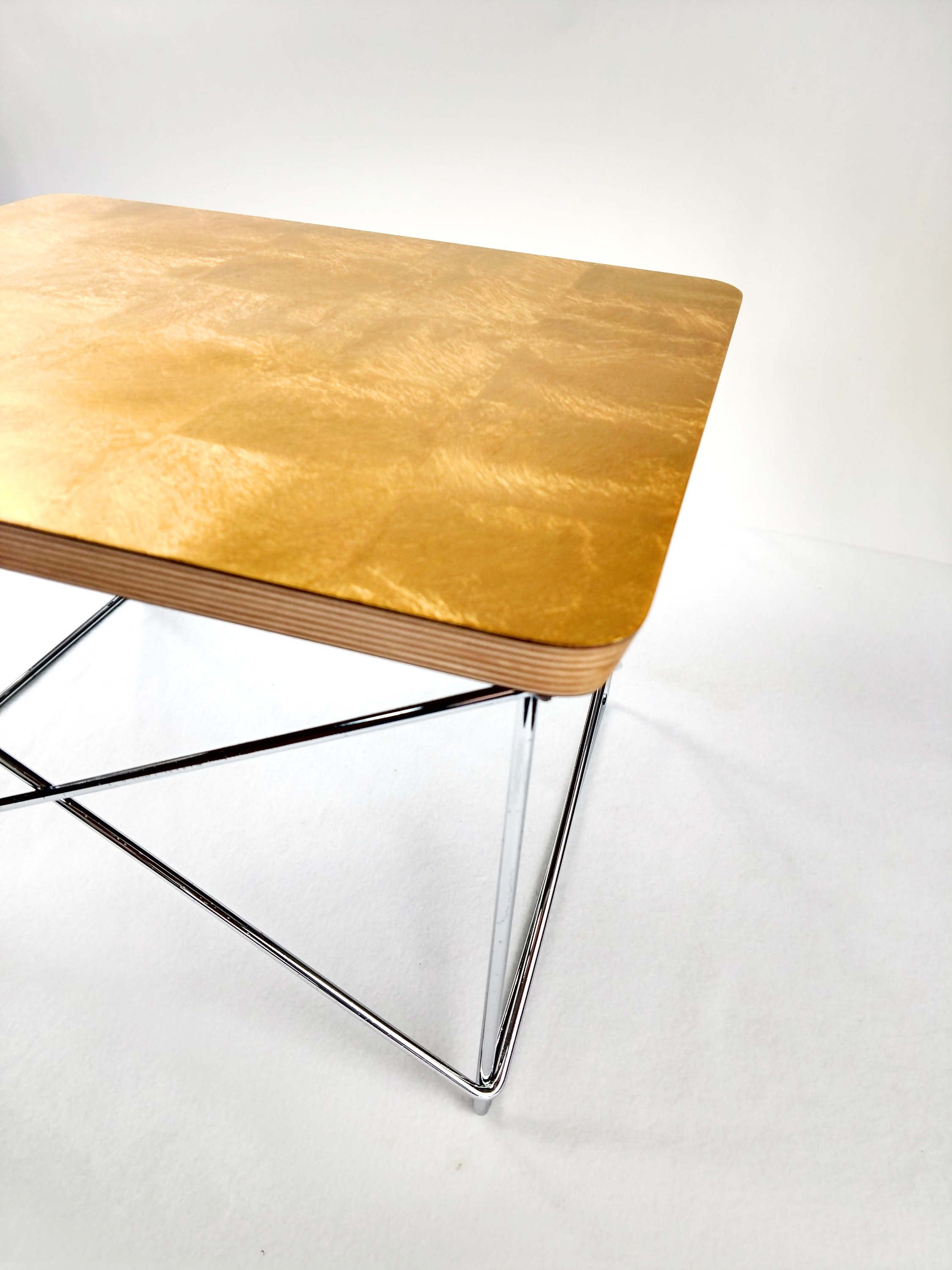 Brilliant Yellow 1990s Vitra Eames LTR Side Table