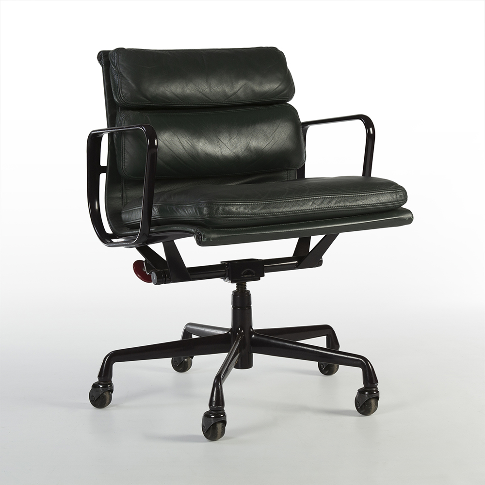 Green 1990s Herman Miller Eames Soft Pad high Back Side Chair