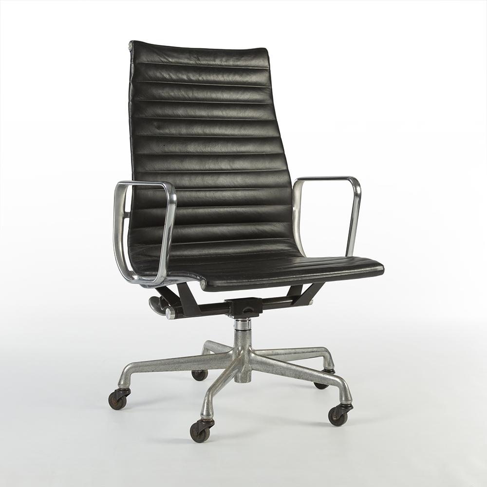 Black 1990s Herman Miller Eames Alu Group High Back Side Chair