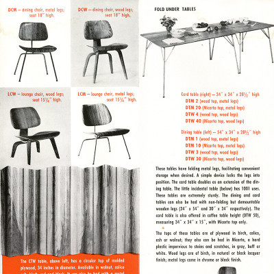 1950 Herman Miller Eames Plywood chair vintage advert