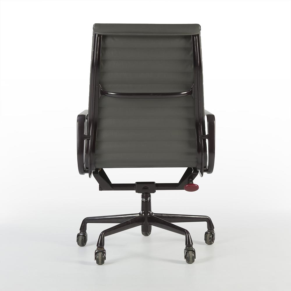Medium Grey 2010s Herman Miller Eames Alu Group High Back Side Chair