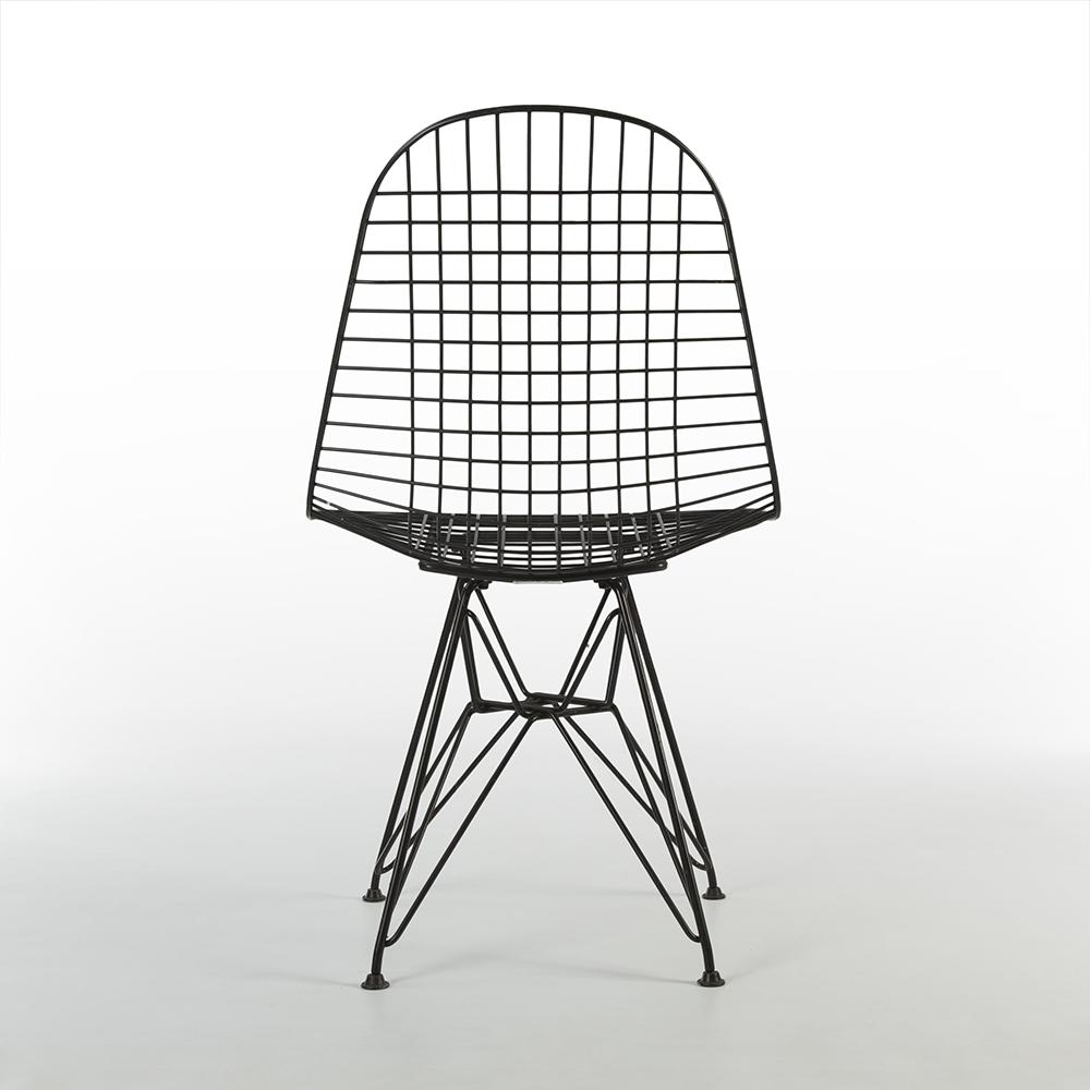 Black 1950s Herman Miller Eames DKR - Eiffel Wire Side