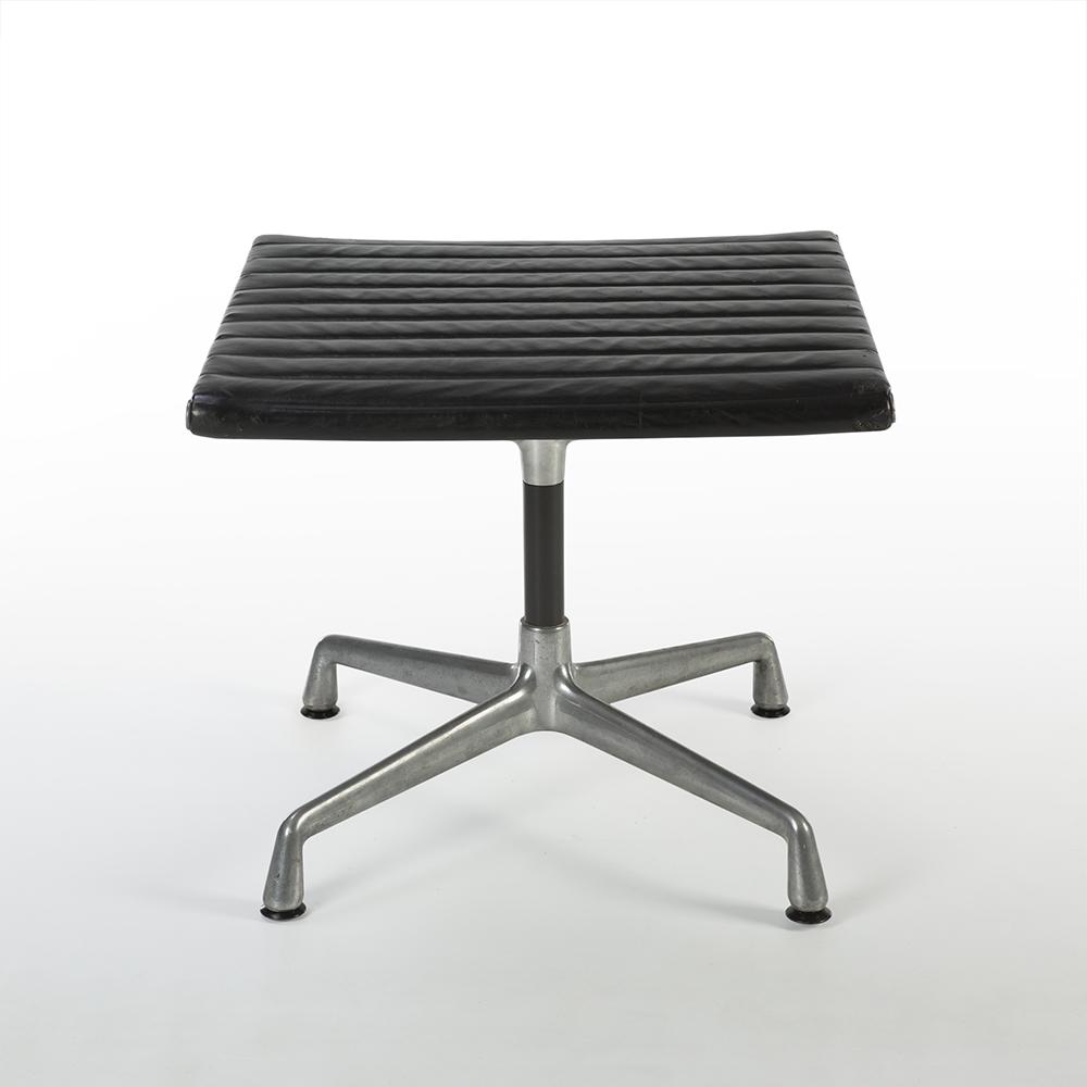 Black 1950s Herman Miller Eames Alu Group High Back Side Chair