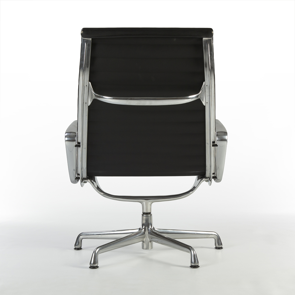 Black 1980s Herman Miller Eames Alu Group Lounge Chair