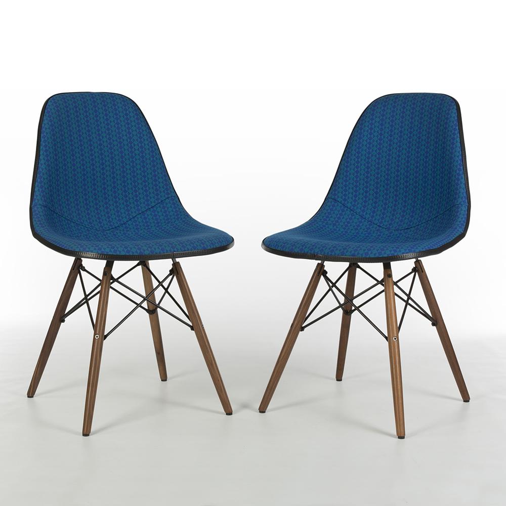 Medium Blue 1970s Herman Miller Eames DSW Dowel Side