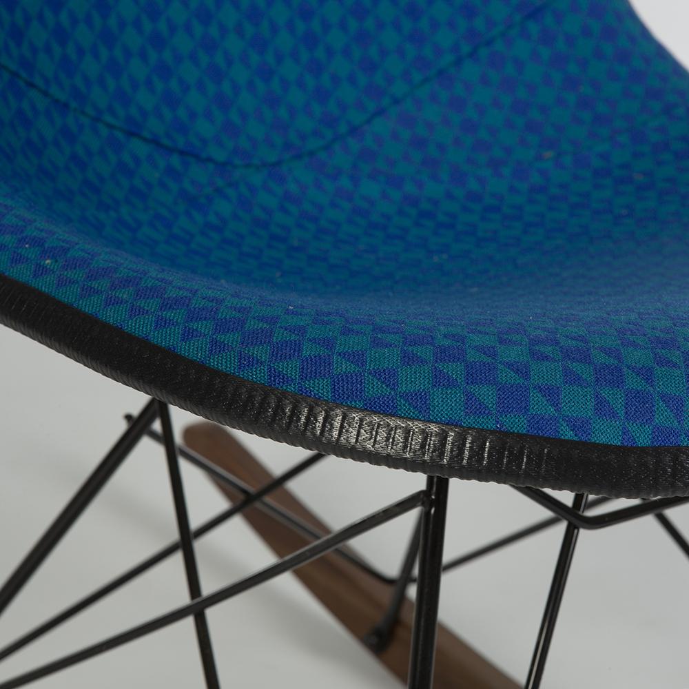 Medium Blue 1970s Herman Miller Eames RSR Rocker Side