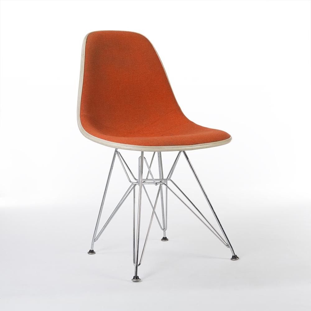 Red Orange 1970s Herman Miller Eames DSR Eiffel Side