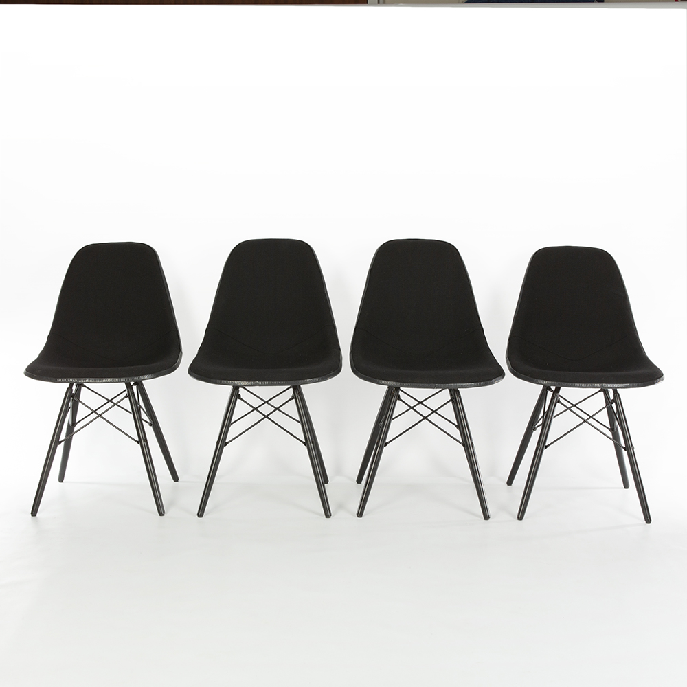 Black 1980s Herman Miller Eames DSW Dowel Side