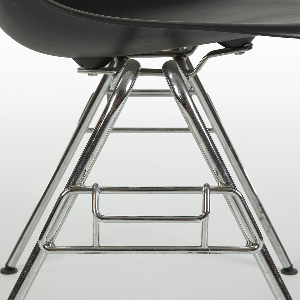 Black 2000s Vitra Eames DSS Stacking Side