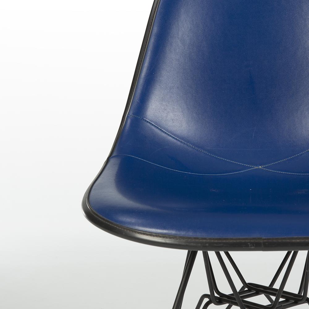 Medium Blue 1970s Herman Miller Eames DSR Eiffel Side