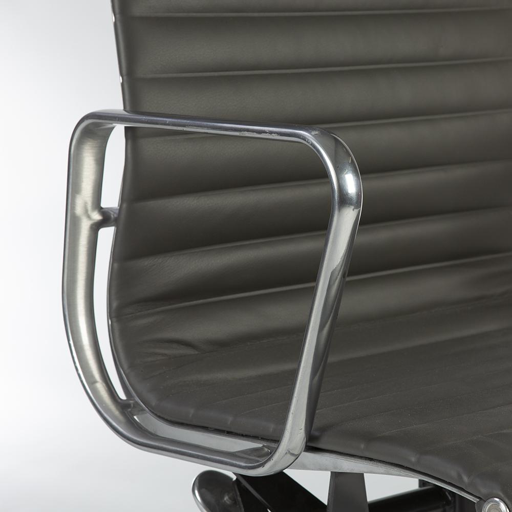 Grey 2010s Herman Miller Eames Alu Group High Back Side Chair