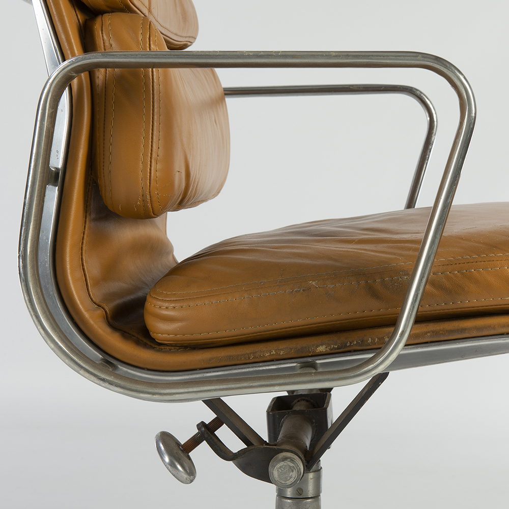 Orange 1980s Herman Miller Eames Soft Pad low Back Side Chair
