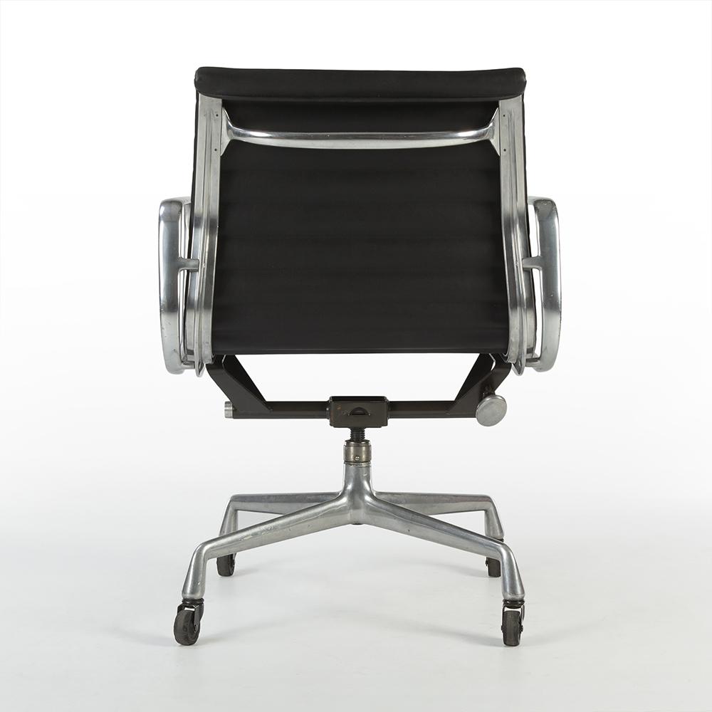 Black 1980s Herman Miller Eames Alu Group Low Back Side Chair