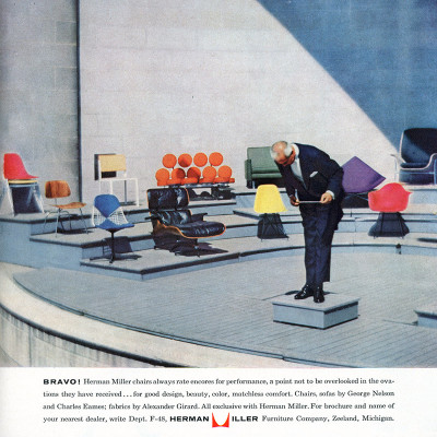 Famous Herman Miller vintage advert showcasing the Lounge Chair