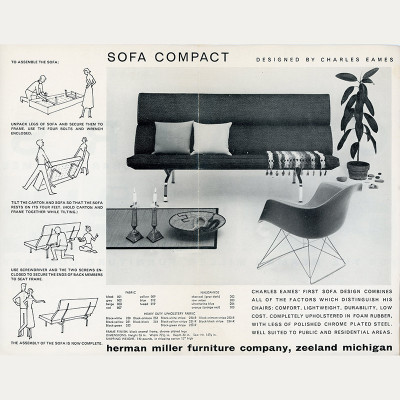 First 1954 release advert for the Compact Sofa