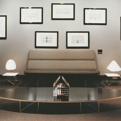 1960's showroom depiction of the Compact Sofa