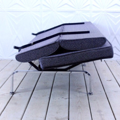 Collapsed space saving of the Eames Compact Sofa