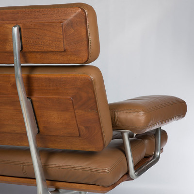 Rear image of the Teak paneling on the sofa