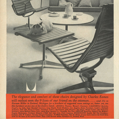 1959 Newspaper advert for the Alu Group Lounge Chair