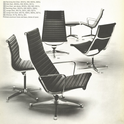 1960's Herman Miller catalog page featuring Alu recliner