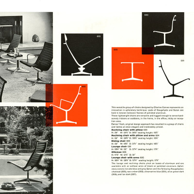 Original vintage 1958 Herman Miller Alu Group Launch brochure