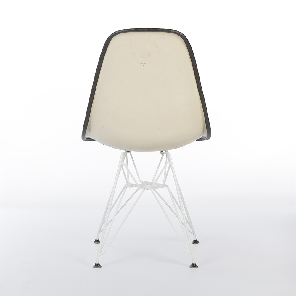 White 1970s Herman Miller Eames DSR Eiffel Side Chairs in very good condition