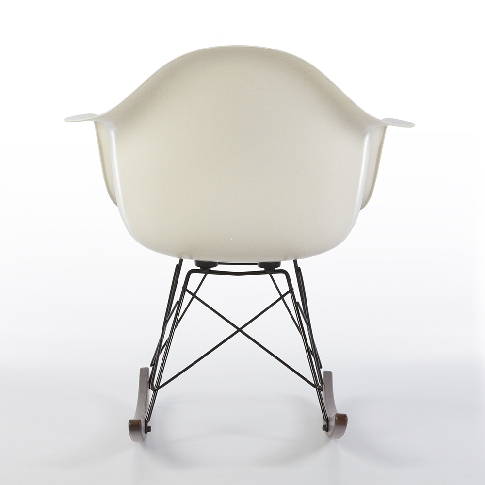 White 2014 Herman Miller Eames RAR Rocking Arm Chairs in very good condition