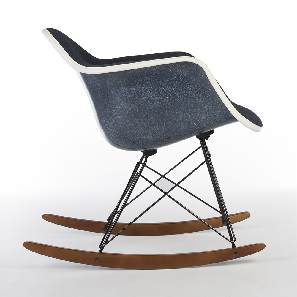 Navy Blue 2014 Herman Miller Eames RAR Rocking Arm Chairs in very good condition
