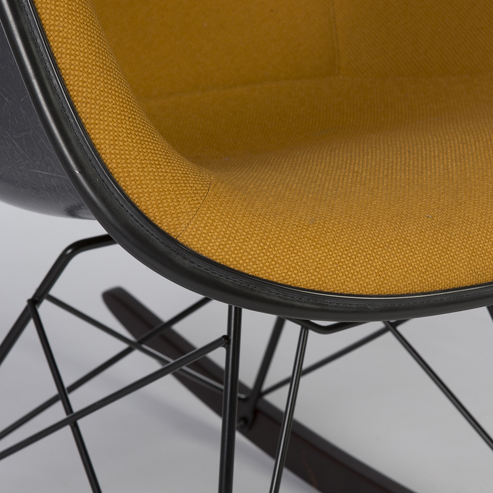Orange 2014 Herman Miller Eames RAR Rocking Arm Chairs in very good condition