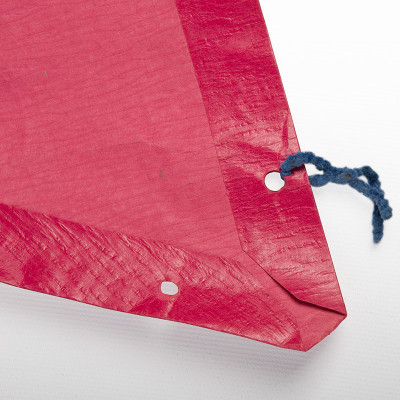 One of the triangular panels in pink magenta with the original pipe cleaner ties