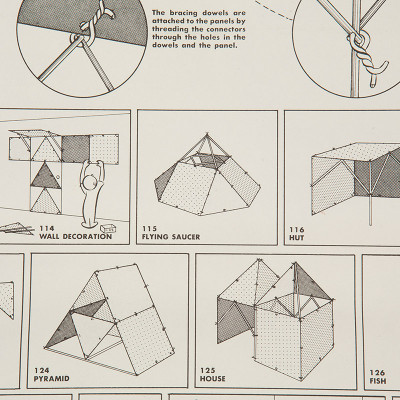 Original instructions of 'The Toy' showed many example building constructions